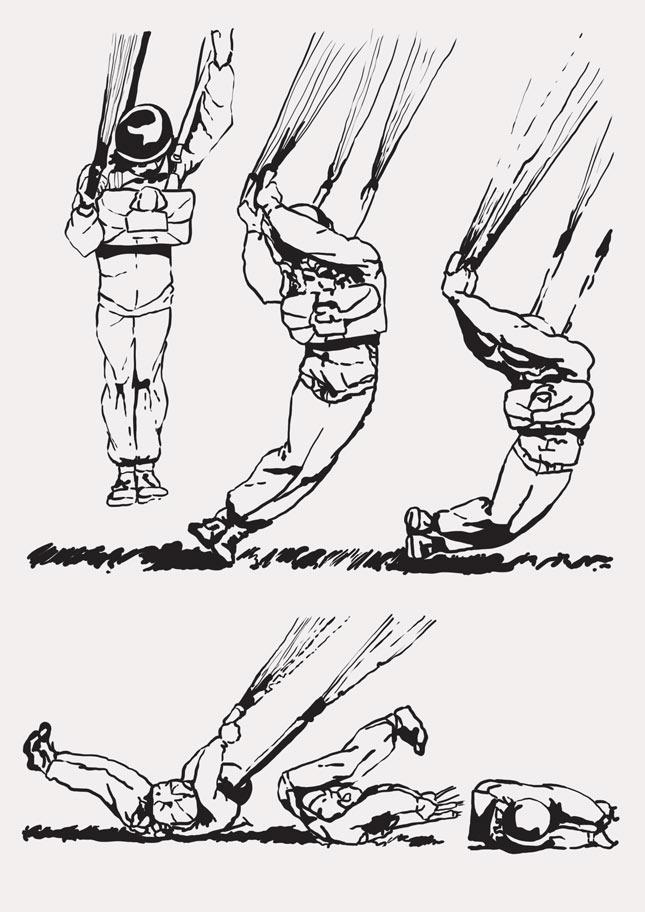 Biomechanika lądowania spadochroniarza: