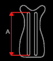 Sposób dokonywania pomiaru -Wysokość stelaża (A)
